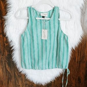 NWT Universal Thread Green And White Stripe Tank